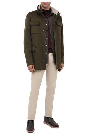 Мужская шерстяная рубашка KITON темно-коричневого цвета, арт. UMCNERK01T3803 | Фото 2