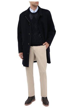 Мужской джемпер из шерсти и шелка BRIONI темно-синего цвета, арт. UMQ90L/09K12 | Фото 2