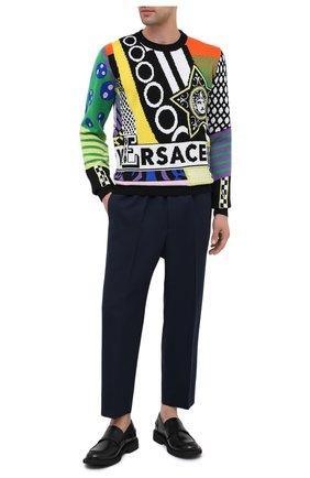 Мужской шерстяные брюки JIL SANDER темно-синего цвета, арт. JSMR311301-MR202500 | Фото 2