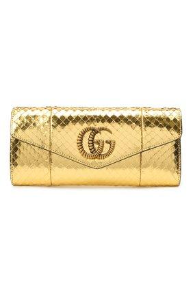 Женский клатч broadway GUCCI золотого цвета, арт. 594101/L150T | Фото 1
