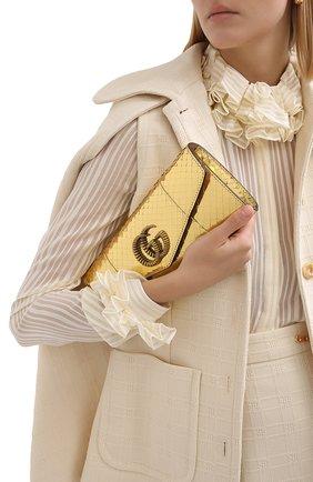 Женский клатч broadway GUCCI золотого цвета, арт. 594101/L150T | Фото 2