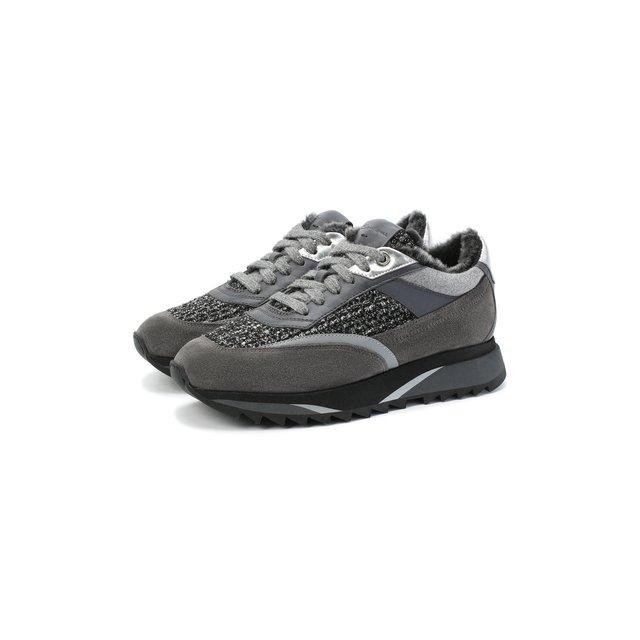 Комбинированные кроссовки Santoni