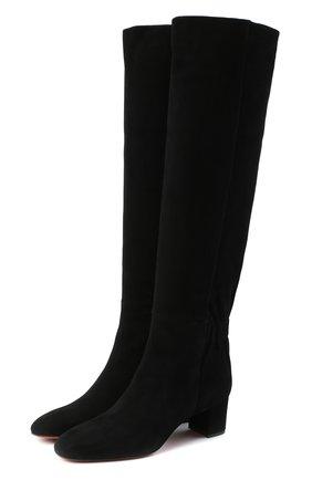 Женские замшевые сапоги SANTONI черного цвета, арт. WSNC58798HI2NMGDN01 | Фото 1