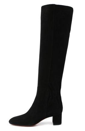 Женские замшевые сапоги SANTONI черного цвета, арт. WSNC58798HI2NMGDN01   Фото 3