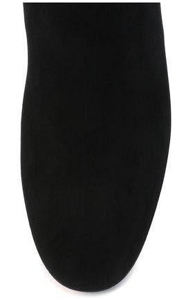 Женские замшевые сапоги SANTONI черного цвета, арт. WSNC58798HI2NMGDN01   Фото 5