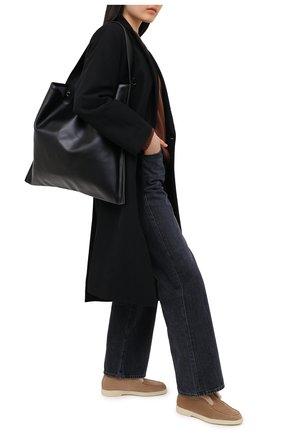 Женские замшевые ботинки yalta SANTONI светло-коричневого цвета, арт. WUYA58457TISAPFRC23 | Фото 2