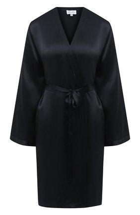 Женский халат MARJOLAINE черного цвета, арт. Laser | Фото 1