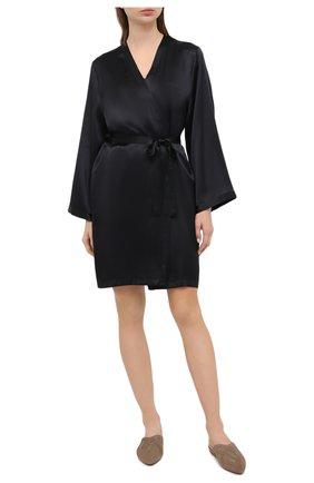 Женский халат MARJOLAINE черного цвета, арт. Laser | Фото 2