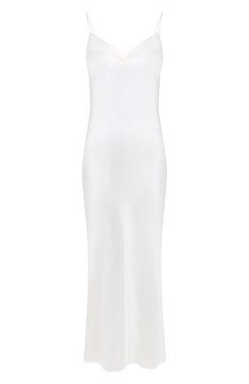 Женская шелковая сорочка MARJOLAINE белого цвета, арт. ODANA | Фото 1