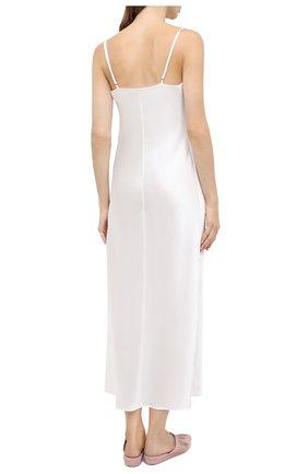 Женская шелковая сорочка MARJOLAINE белого цвета, арт. ODANA   Фото 4 (Материал внешний: Шелк; Длина Ж (юбки, платья, шорты): Макси)