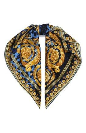 Женский шелковый платок VERSACE темно-синего цвета, арт. IF09001/IT02282 | Фото 1