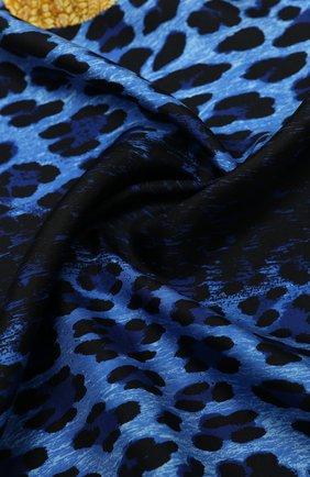 Женский шелковый платок VERSACE темно-синего цвета, арт. IF09001/IT02282 | Фото 2