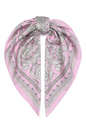 Женский шелковый платок VERSACE розового цвета, арт. IF09001/IT02283 | Фото 1