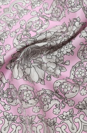 Женский шелковый платок VERSACE розового цвета, арт. IF09001/IT02283 | Фото 2