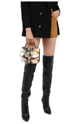 Женская сумка virtus VERSACE черного цвета, арт. DBFH211/DV7BAR | Фото 2