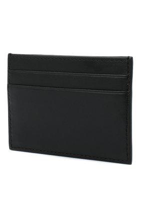 Женский кожаный футляр для кредитных карт medusa VERSACE черного цвета, арт. DP3H286M/D2VITM   Фото 2