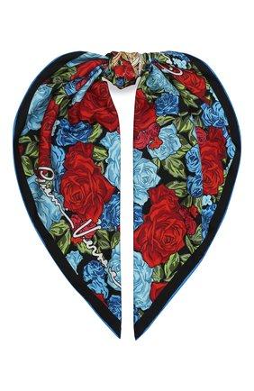 Женский шелковый платок VERSACE разноцветного цвета, арт. IF09001/A236209 | Фото 1