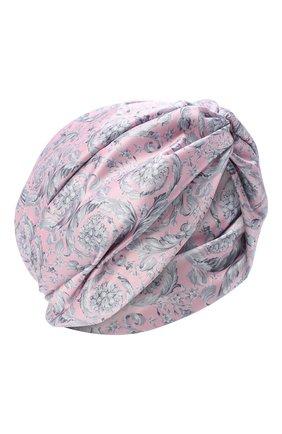 Женский шелковый тюрбан VERSACE розового цвета, арт. IFAS004/A236118 | Фото 1