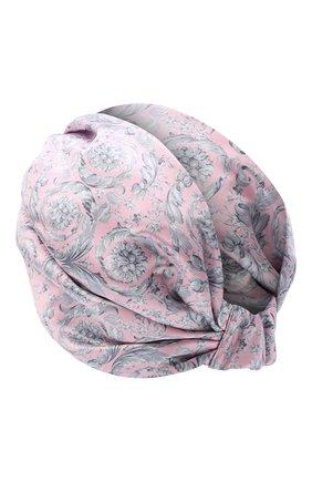 Женский шелковый тюрбан VERSACE розового цвета, арт. IFAS004/A236118 | Фото 2