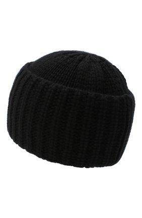 Женский кашемировая шапка SAINT LAURENT черного цвета, арт. 629100/3Y205 | Фото 2