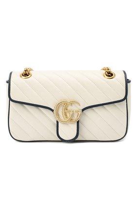 Женская сумка gg marmont GUCCI белого цвета, арт. 443497/00LFX | Фото 1