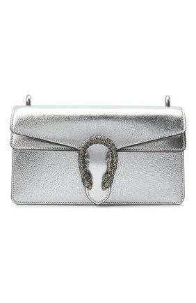 Женская сумка dionysus small GUCCI серебряного цвета, арт. 499623/1TRBN | Фото 1