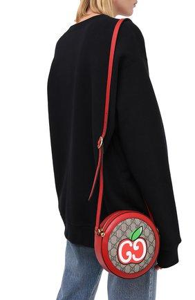 Женская сумка cny doraemon GUCCI красного цвета, арт. 625216/2GPAG | Фото 2