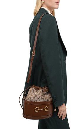 Женская сумка gg 1955 horsebit small GUCCI бежевого цвета, арт. 602118/1DBUG | Фото 2