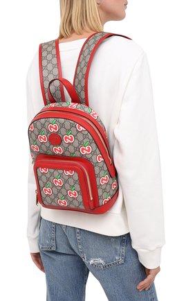 Женский рюкзак pomme gg GUCCI красного цвета, арт. 601296/2EVCG | Фото 2