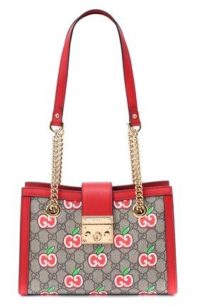 Женская сумка padlock small GUCCI красного цвета, арт. 498156/2EVEG | Фото 1