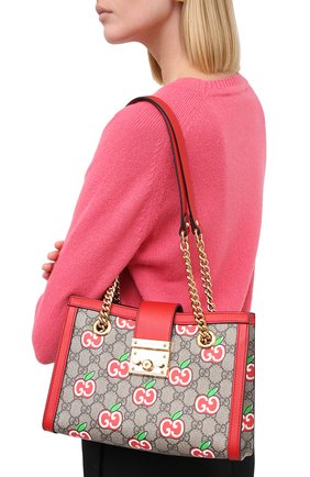Женская сумка padlock small GUCCI красного цвета, арт. 498156/2EVEG | Фото 2