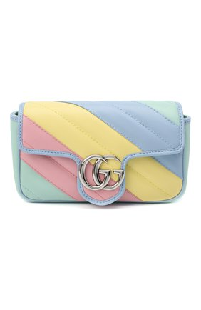 Женская сумка supermini GUCCI разноцветного цвета, арт. 476433/DTDXP | Фото 1