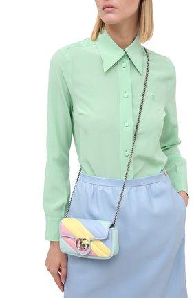 Женская сумка supermini GUCCI разноцветного цвета, арт. 476433/DTDXP | Фото 2