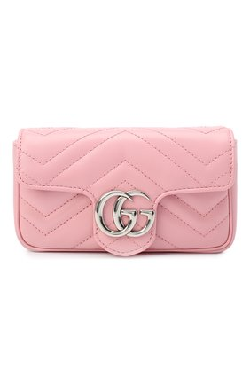 Женская сумка supermini GUCCI розового цвета, арт. 476433/DTDCP | Фото 1