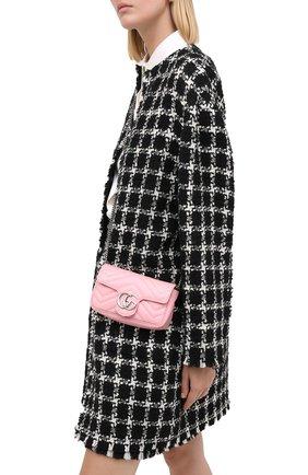 Женская сумка supermini GUCCI розового цвета, арт. 476433/DTDCP | Фото 2