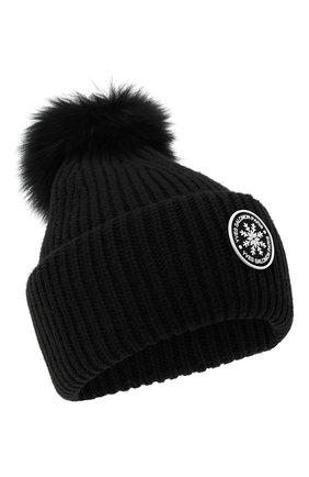 Женский шапка из шерсти и кашемира YVES SALOMON черного цвета, арт. 9WAA047XXMARD | Фото 1