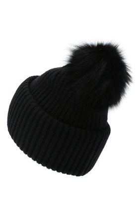 Женский шапка из шерсти и кашемира YVES SALOMON черного цвета, арт. 9WAA047XXMARD | Фото 2