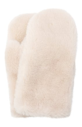 Женские шерстяные варежки YVES SALOMON розового цвета, арт. 21WAA308XXLATI | Фото 1