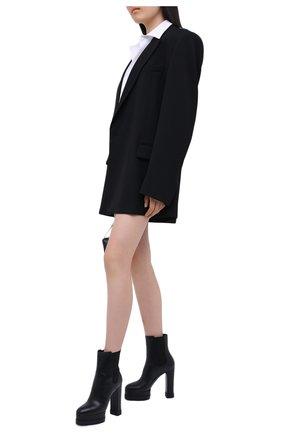 Женские кожаные ботильоны CASADEI черного цвета, арт. 1R132N1201L0VEC9000   Фото 2