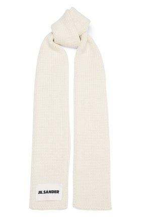 Мужские шерстяной шарф JIL SANDER кремвого цвета, арт. JSPR751165-WRY21188 | Фото 1