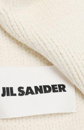 Мужские шерстяной шарф JIL SANDER кремвого цвета, арт. JSPR751165-WRY21188 | Фото 2