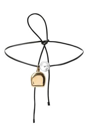 Женский кожаный пояс JIL SANDER черного цвета, арт. JSPR800059-WRS00017 | Фото 1