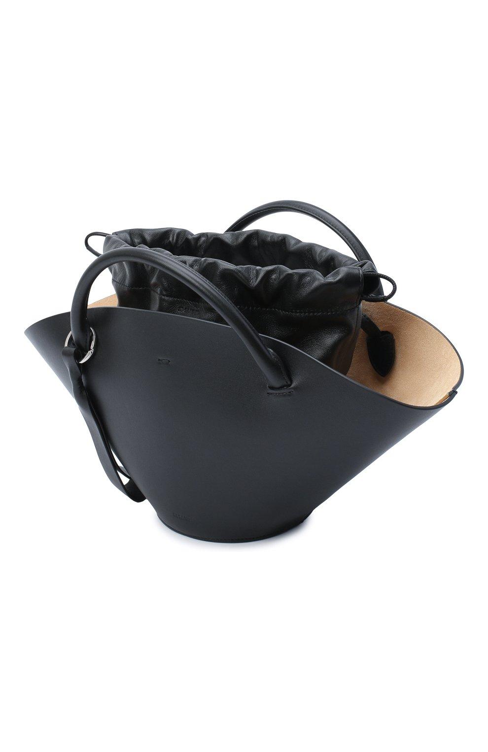 Женский сумка sombrero JIL SANDER черного цвета, арт. JSPR851428-WRB69139V   Фото 4