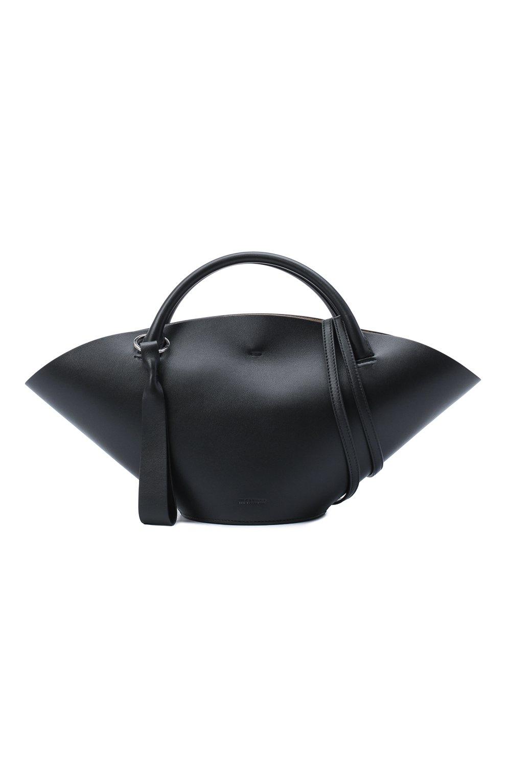Женский сумка sombrero JIL SANDER черного цвета, арт. JSPR851428-WRB69139V   Фото 6