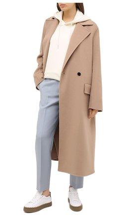 Женские кожаные кеды lauren CHLOÉ белого цвета, арт. CHC20U108M1 | Фото 2
