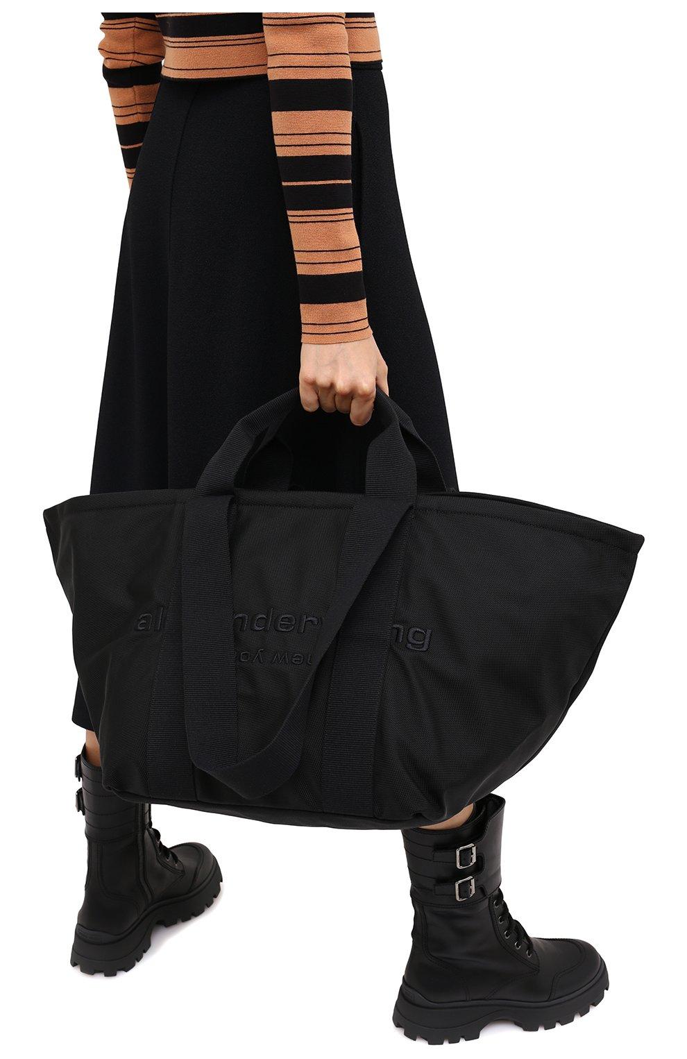 Женский сумка-тоут primal large ALEXANDER WANG черного цвета, арт. 20C220T105   Фото 2