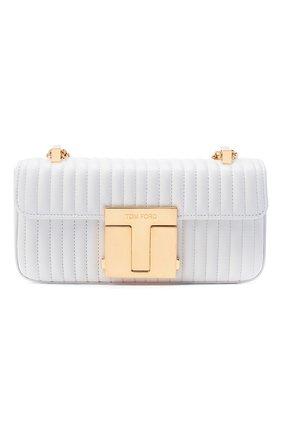 Женская сумка 001 medium TOM FORD белого цвета, арт. L1326T-ICL019   Фото 1 (Размер: medium; Ремень/цепочка: На ремешке; Материал: Натуральная кожа; Сумки-технические: Сумки через плечо)