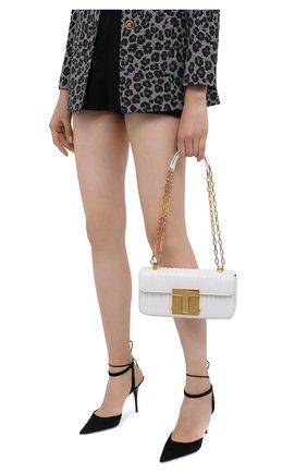Женская сумка 001 medium TOM FORD белого цвета, арт. L1326T-ICL019   Фото 2 (Размер: medium; Ремень/цепочка: На ремешке; Материал: Натуральная кожа; Сумки-технические: Сумки через плечо)