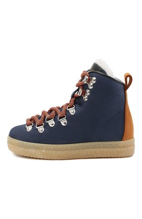 Детские замшевые ботинки DSQUARED2 синего цвета, арт. 65157/M0RBID0NE/28-35 | Фото 2