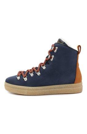 Детские замшевые ботинки DSQUARED2 синего цвета, арт. 65157/M0RBID0NE/36-41 | Фото 2